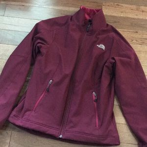 North Face Burgundy Jacket